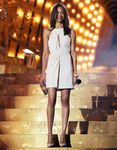 Zoe Saldana in J. Mendel | SCREAM 2011 Awards