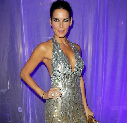 Angie Harmon in Jean Fares Couture   2011 UNICEF Snowflake Ball