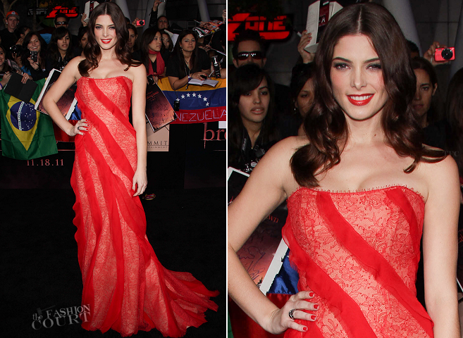 Ashley Greene in Donna Karan | 'The Twilight Saga: Breaking Dawn - Part 1' LA Premiere