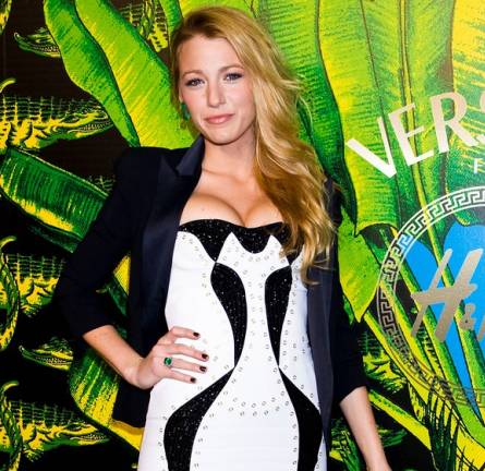 Blake Lively in Versace | Versace for H&M Fashion Show