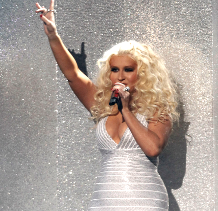 Christina Aguilera in Herve Leger | 2011 American Music Awards