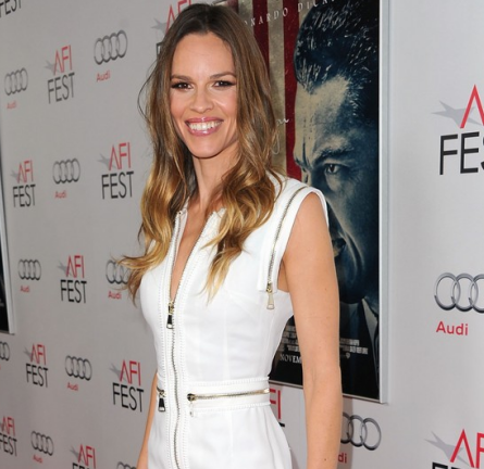 Hilary Swank in Givenchy | AFI Fest 2011 Opening Night Premiere - 'J. Edgar'