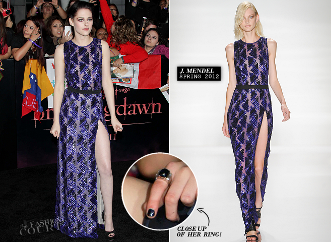 Kristen Stewart in J. Mendel | 'The Twilight Saga: Breaking Dawn - Part 1' LA Premiere