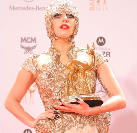 Lady Gaga in Alexander McQueen   2011 Bambi Awards