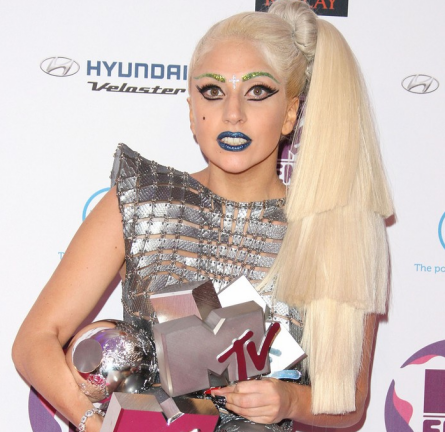 Lady Gaga Shows Her Love For Paco Rabanne's Designs During The 2011 MTV Europe Music Awards!