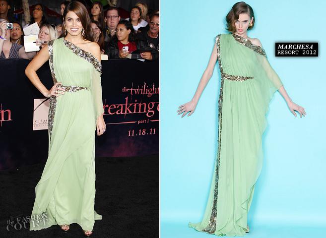 Nikki Reed in Marchesa | 'The Twilight Saga: Breaking Dawn - Part 1' LA Premiere