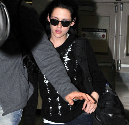 Kristen Stewart in a+ro, 7 For All Mankind, Oliver Peoples & Converse!