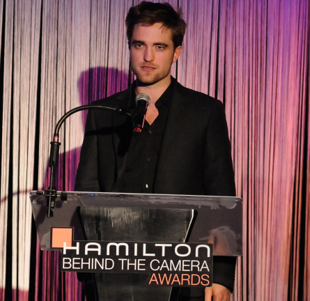 Robert Pattinson in Z Zegna | 2011 Hamilton Behind The Camera Awards