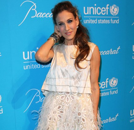 Sarah Jessica Parker in Louis Vuitton | 2011 UNICEF Snowflake Ball