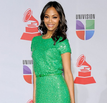 Zoe Saldana in Elie Saab | 12th Annual Latin GRAMMY Awards