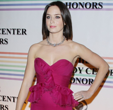 Emily Blunt in Notte by Marchesa | 34th Kennedy Center Honors