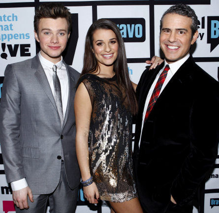 Lea Michele in Jenny Packham | Bravo's 'Watch What Happens Live'
