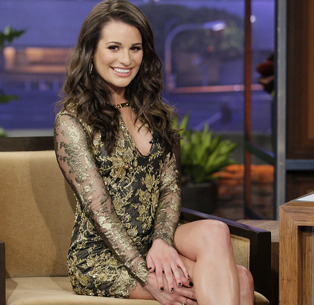 Lea Michele in Emilio Pucci | 'The Tonight Show with Jay Leno'
