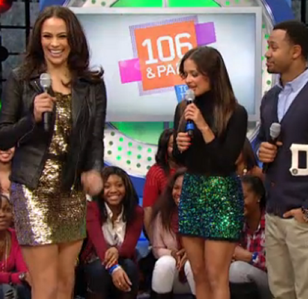Paula Patton in Moschino | 106 & Park: BET's 'Top 10 Live'