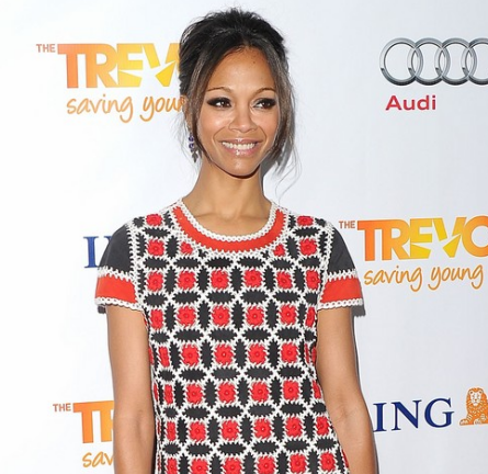Zoe Saldana in Rena Lange | The Trevor Project's 2011 Trevor Live!