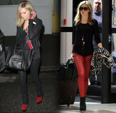 Ashley Tisdale Rocks the 'JAVA' Boots by Alice + Olivia!