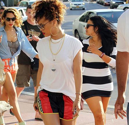 Rihanna Lounges Around Miami in Sick Alexander Wang Designs!