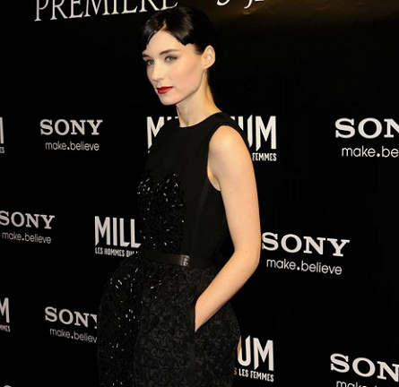 Rooney Mara in Louis Vuitton   'The Girl with the Dragon Tattoo' Paris Premiere