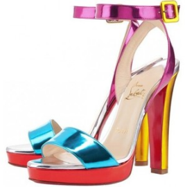 Christian Louboutin ECHASSE Metallic Colorful Sandals