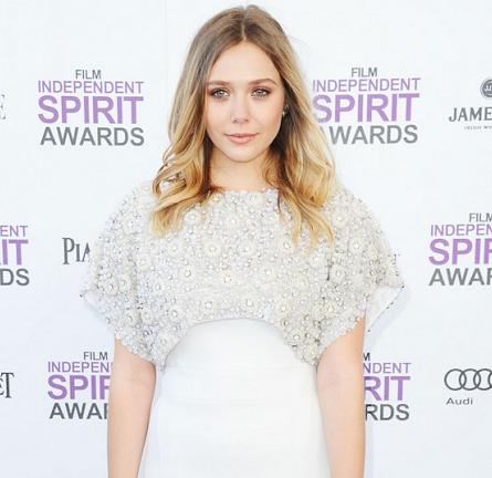 Elizabeth Olsen in Antonio Berardi   2012 Film Independent Spirit Awards