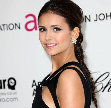 Nina Dobrev in J. Mendel | 2012 Elton John AIDS Foundation's Oscar Viewing Party
