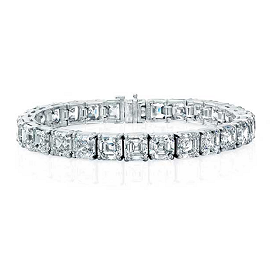 Norman Silverman Ascher Cut Diamond Bracelet