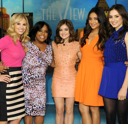 The 'Pretty Little Liars' Rock Dresses From Rachel Roy, Issa & Nanette Lepore on 'The View'!