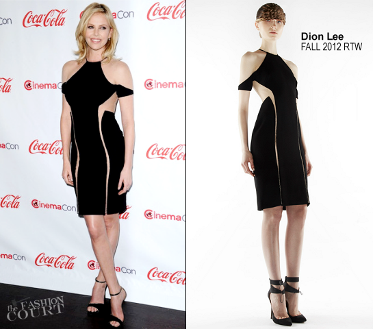 Charlize Theron in Dion Lee | 2012 CinemaCon Big Screen Achievement Awards