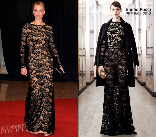 Charlize Theron in Emilio Pucci | 2012 White House Correspondents Association Dinner