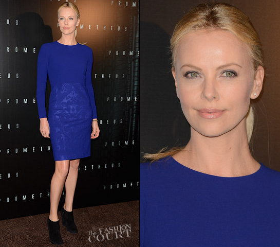 Charlize Theron in Stella McCartney | 'Prometheus' Paris Premiere