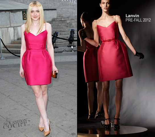 Dakota Fanning in Lanvin | 2012 Tribeca Film Festival Vanity Fair Party