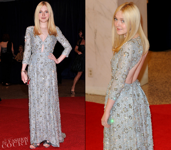 Dakota Fanning in Prada | 2012 White House Correspondents Association Dinner