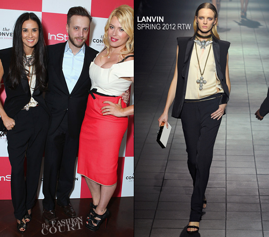 Demi Moore in Lanvin | InStyle's 'The Conversation with Amanda De Cadenet' Launch