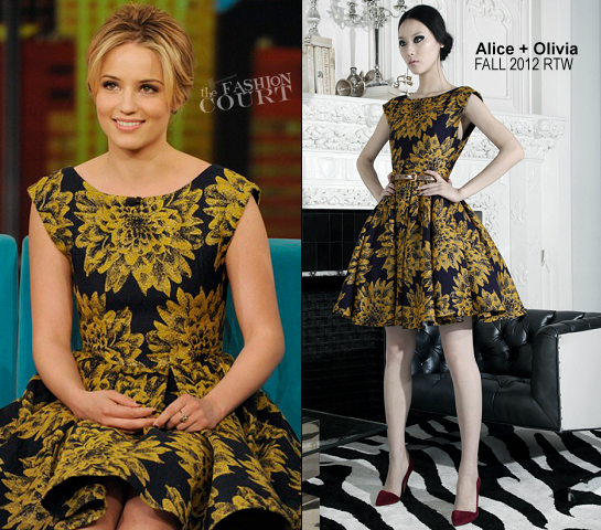 Dianna Agron in Alice + Olivia | 'The View'