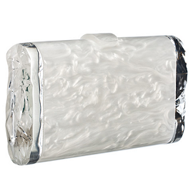 Edie Parker LARA Pearlescent Clutch with Ice Ends