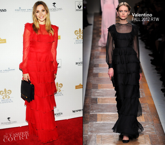 Elizabeth Olsen in Valentino | 2012 Grand Chefs Dinner