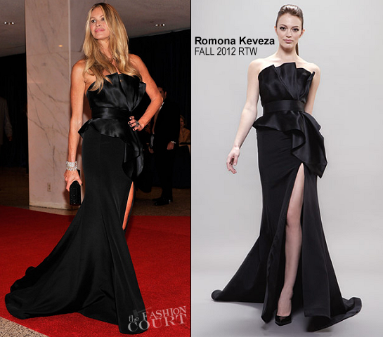 Elle Macpherson in Romona Keveza | White House Correspondents' Association Dinner