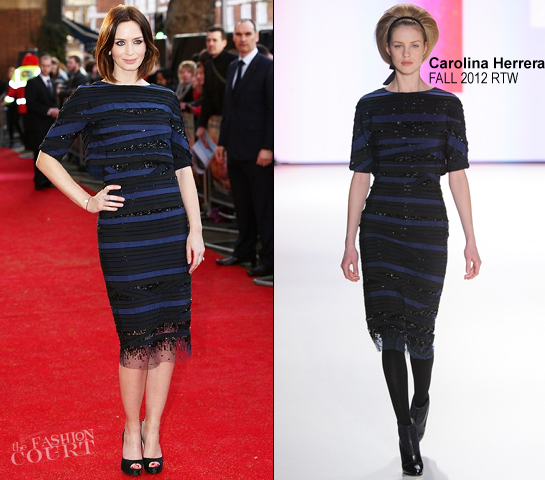 Emily Blunt in Carolina Herrera | 'Salmon Fishing in the Yemen' London Premiere