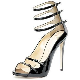 Giuseppe Zanotti 3-Strap Patent E20242 Sandals