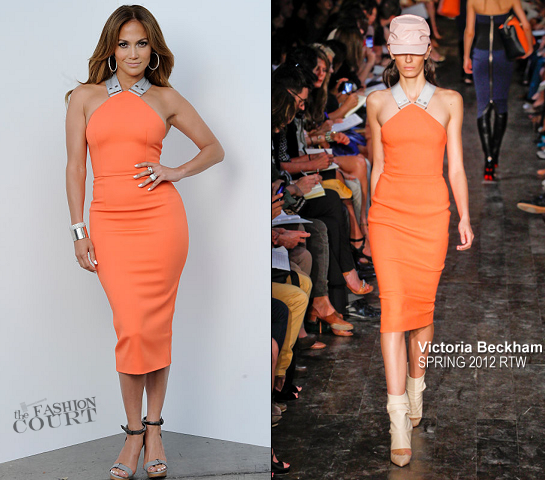 Jennifer Lopez in Victoria Beckham | 'American Idol' Top 7 To 6 Live Elimination Show