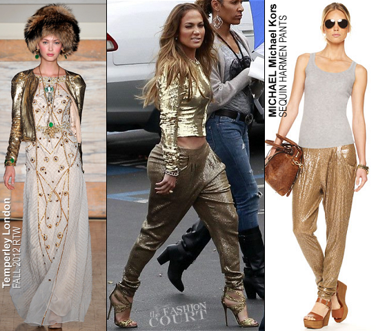 Jennifer Lopez in Temperley London & Michael Kors | 'American Idol' Season 11 Top 6 With Save Live Performance Show