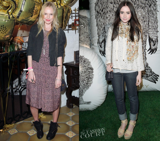 Coachella: Lily Collins & Kate Bosworth Hit Up the Mulberry Firepit Party!