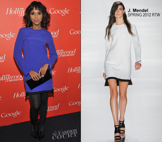 Kerry Washington in J. Mendel | Google & Hollywood Reporter Host an Evening Celebrating The White House Correspondents' Weekend 2012