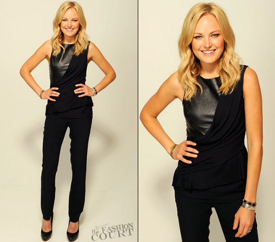 Malin Akerman in J. Mendel | 'The Giant Mechanical Man' Tribeca Film Festival Studio