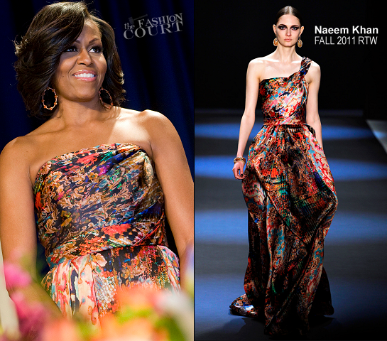 Michelle Obama in Naeem Khan | 2012 White House Correspondents Association Dinner