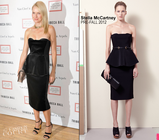 Naomi Watts in Stella McCartney | 2012 Tribeca Ball