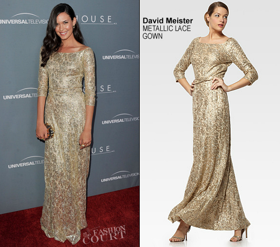 Odette Annable in David Meister | 'House' Series Finale Wrap Party