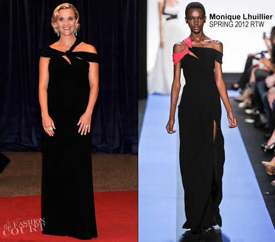 Reese Witherspoon in Monique Lhuillier | 2012 White House Correspondents Association Dinner