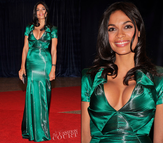 Rosario Dawson in Armani Privé | White House Correspondents' Association Dinner