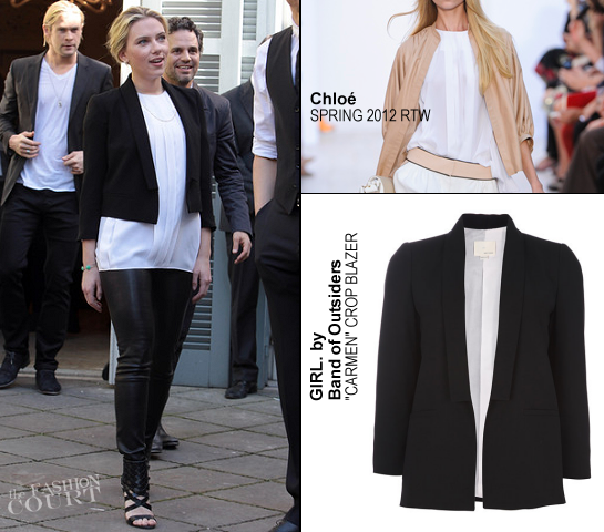 Scarlett Johansson in Chloé & GIRL. by Band of Outsiders | 'The Avengers' Rome Photocall